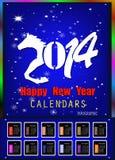 Creatief Gelukkig Nieuwjaar 2014 Royalty-vrije Stock Foto