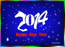 Creatief Gelukkig Nieuwjaar 2014 Royalty-vrije Stock Afbeeldingen