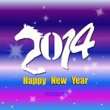 Creatief Gelukkig Nieuwjaar 2014 Stock Foto