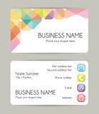 Creatief grafisch adreskaartjeontwerp Voorzijde en Rug vector illustratie