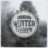 Creatief grafisch bericht voor de winterontwerp Stock Foto