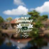 Creatief grafisch bericht voor uw de zomerontwerp Royalty-vrije Stock Afbeeldingen