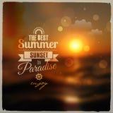 Creatief grafisch bericht voor uw de zomerontwerp Stock Foto's