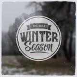 Creatief grafisch embleembericht voor de winterontwerp Royalty-vrije Stock Foto