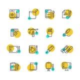 Creatief grafisch ontwerp en het schrijven hulpmiddel Royalty-vrije Stock Foto's