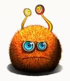 Creatief grappig oranje monster Stock Illustratie