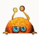 Creatief grappig oranje monster Royalty-vrije Stock Foto