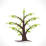 Creatief groen het ontwerpconcept van de brandstofboom royalty-vrije illustratie
