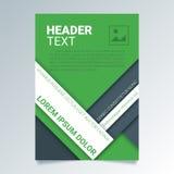 Creatief groen vlieger vectormalplaatje in A4 grootte Moderne affiche, brochure bedrijfsmalplaatje in een materiële ontwerpstijl Stock Foto's