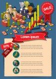 Creatief het Document van de de Vliegerbrochure van het geldmalplaatje Vectorontwerpmalplaatje Royalty-vrije Stock Foto's