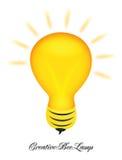 Creatief het embleemontwerp van de bijenlamp Stock Afbeelding