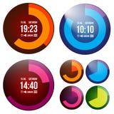 Creatief horloge Stock Afbeeldingen