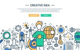 Creatief Idee - de websitebanner van het lijnontwerp Stock Fotografie