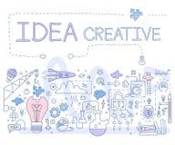 Creatief idee Vector Illustartion Stock Afbeelding