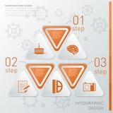 Creatief Infographic-Malplaatje Stock Foto's