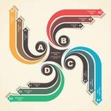 Creatief infographic ontwerp Royalty-vrije Stock Fotografie