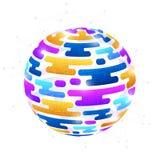 Creatief kleurrijk abstract bolontwerp Stock Foto's