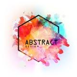 Creatief kleurrijk abstract kader Royalty-vrije Stock Foto's