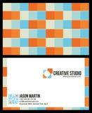 Creatief kleurrijk adreskaartje Stock Foto's