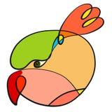 Creatief kleurrijk beeld van een vogel met een bosje vector illustratie