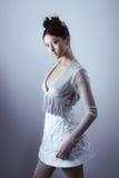 Creatief kunstsamenstelling en kapsel Portret van mooi Aziatisch meisje royalty-vrije stock foto's