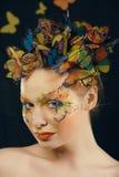 Creatief maak omhoog als vlinder stock afbeelding