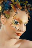 Creatief maak omhoog als vlinder royalty-vrije stock fotografie