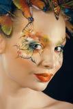 Creatief maak omhoog als vlinder royalty-vrije stock foto's