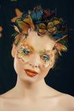 Creatief maak omhoog als vlinder stock afbeeldingen