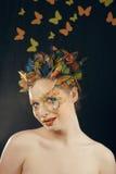 Creatief maak omhoog als vlinder royalty-vrije stock foto