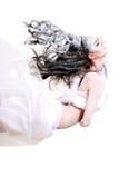 Creatief make-up en haar royalty-vrije stock foto