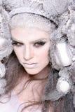 Creatief make-up en haar op een maniermeisje royalty-vrije stock foto's