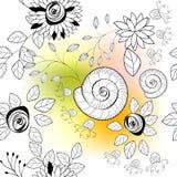 Creatief naadloos patroon Stock Afbeeldingen