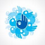 Creatief O.k. symbool Stock Afbeelding
