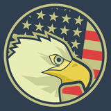 De vlag van Eagle Royalty-vrije Stock Fotografie