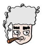 Het roken van het gezicht Royalty-vrije Stock Foto