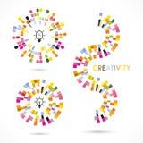 Creatief Pictogramembleem Het Embleem van het cirkelpictogram Abstract Pictogramembleem Royalty-vrije Stock Foto