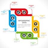 Creatief pijl informatie-grafiek ontwerp vector illustratie