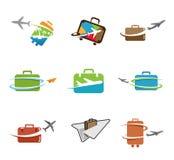 Creatief Reistassen Symbolisch Ontwerp Stock Afbeeldingen