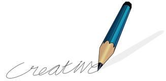 Creatief schrijven van het potlood Stock Afbeelding