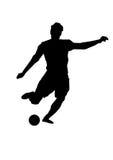 Creatief silhouet van voetbalster Royalty-vrije Stock Afbeelding