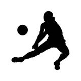 Creatief silhouet van voetbalster Stock Afbeelding