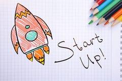 Creatief startconcept royalty-vrije illustratie