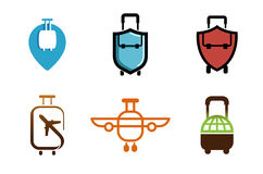 Creatief Symbolisch Vliegtuigobjecten Ontwerp Stock Afbeelding
