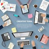 Creatief teamconcept Stock Foto