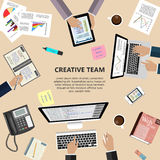 Creatief teamconcept Stock Foto's