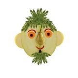 Creatief voedselconcept Grappig die portret van appelen wordt gemaakt, plantaardig royalty-vrije stock fotografie