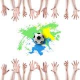 Creatief Voetbalontwerp Stock Foto