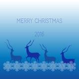 Creatief vrolijk Kerstmis 2016 ontwerp Stock Foto