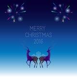 Creatief vrolijk Kerstmis 2016 ontwerp Stock Foto's